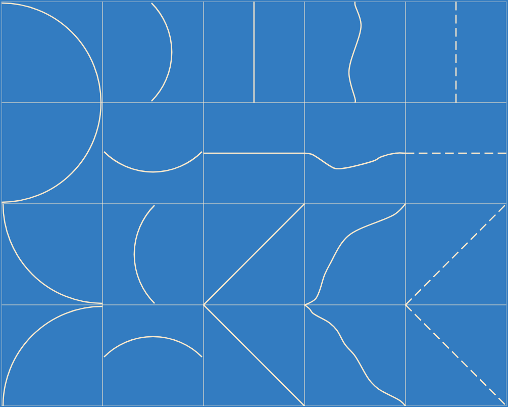 "Programmatically recreating Sol LeWitt's ""All two-part"